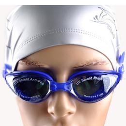 Óculos de natação espelhados on-line-Anti-fog Espelhado Ajustável Óculos Homens Mulheres Unisex Revestimento Natação Óculos Adulto Goggles Swim Gafas