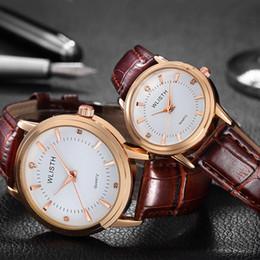 quarzleder braune farbe frauenuhr Rabatt Männer und Frauen Paare Quarzuhr Leder wasserdicht Mode lässig braun schwarz Farbe Uhr