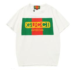 Sterne hemden hip hop kleidung online-Marke Sommer Tops Mode Kleidung NEUE 2019 neuesten gestreiften stern brief T-Shirt herrenbekleidung Tops Tees Hip Hop brief Shirts