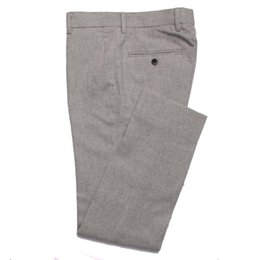 2019 серый фланелевой костюм 2019 Fashion Grey Flannel Pants Men Slim Fit Business Pants Custom Made Gray Flannel Trousers,Tailored Warm Wool Suit скидка серый фланелевой костюм
