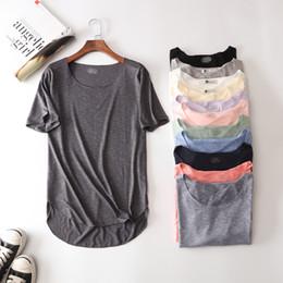 v neck new model t shirts Desconto 100% Algodão de Fitness Verão Nova Camiseta de Manga Curta Harajuku Solto Modelo Mulheres T-shirt Ocasional O-pescoço Magro Moda Roupas de Mulher Y18122402