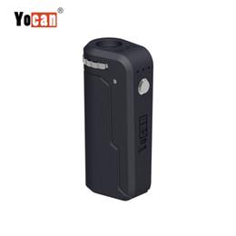 Scatola UNI Yocan Mod 650mAh Batteria di preriscaldamento Regolabile in altezza e diametro Supporto per tutte le cartucce di nebulizzatore per olio denso Atomizzatore 10 colori da