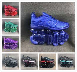 Señora de nylon genial online-Nueva versión TN Plus Hombre Mujer Diseñador Zapatillas de deporte Fresco Gris Púrpura Negro Verde Azul Hombres Damas Cushion Trainer Sport Sneakers