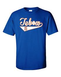"""Tebow трикотажных изделий онлайн-Tim Tebow """"Tebow Baseball"""" футболка из джерси S-5XLБесплатная бесплатная доставка Унисекс Повседневная футболка"""