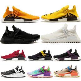 1188e6940c873 Cheap NMD Human Race trail Running Shoes Men Women Pharrell Williams HU  Runner Yellow Black White Red Green Grey blue sports runner sneaker