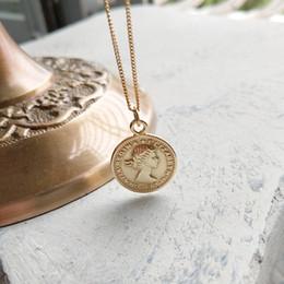 Pièces d'argent sterling en Ligne-Nouvelle arrivée populaire 925 collier en argent bijoux reine tête image pièce pendentif collier d'or pour les femmes pour cadeau porter tous les jours