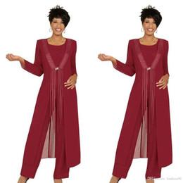 Argentina Madre burdeos de los vestidos de novia con chaqueta Cuello de joya Manga larga Vestido de novia Invitación Borla de encaje Vestidos de noche personalizados Suministro