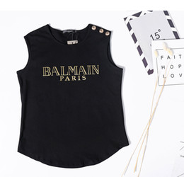 Elegante t-shirts online-Mode Grafik Shirt Blusas Sommer Elegantes T-Shirt Mädchen Button Tank Top aus reiner Baumwolle inspiriert Weste T-Shirt Kurzarm Designer T-Shirt