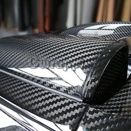 adesivo auto hellaflush Sconti Super qualità Gloss in fibra di carbonio ultra 5D vinile Wrap Big Texture Super lucida 5D film di carbonio con il formato 50cm * 150 centimetri