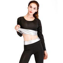 2019 kit rápido PENEARN Rápido Sweat Suit Perda de Peso Terno Dos Esportes de Roupas de Ginástica Mulheres Aptidão Feminina 2019 T-shirt de Manga Longa Leggings Kit desconto kit rápido