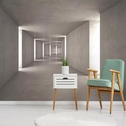 2019 tallas de la pared china Foto personalizada 3D Estereoscópico Espacio abstracto Mural Pintura de pared Dormitorio Sala de estar Sofá TV Fondo Papeles de pared Decoración para el hogar