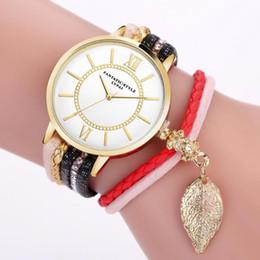 relógios vintage para meninas Desconto Lvpai mulheres menina relógios do vintage moda rodada mostrador do relógio de quartzo das mulheres folha pingente de pulseira relógios relogios feminino dames