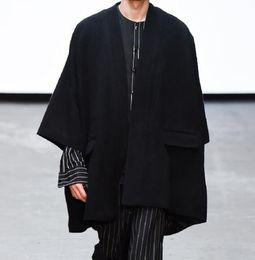 kimono japonés caliente Rebajas M - 5XL Hot 2019 Primavera / Otoño Masculino Nueva moda Personalizado personalizado japonés suelto kimono literario clásico abrigo de lana