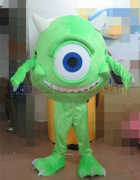 Зародышевые костюмы онлайн-New Germ mascot costume Top grade deluxe cartoon character costumes Green Bacteria mascot suit Fancy dress party carnival Free Shipping