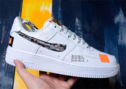 pretty nice 2b4e6 c8d80 nike air force one shoes just do it shoes orange 2019 Nouvelles chaussures  de skate à porter Chaussures de course pour homme, femme, forces,  utilitaire, ...