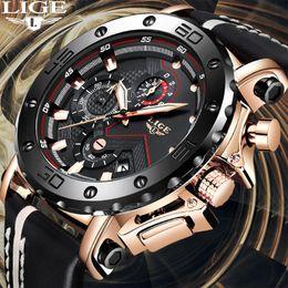 Nuevo 2019 LIGE cronógrafo para hombre Relojes de primeras marcas de moda de lujo de los hombres reloj de cuarzo resistente al agua reloj de pulsera masculino Deporte desde fabricantes