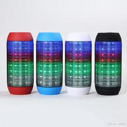 Ha portato cannone leggero online-BT807L Luci colorate LED Colorful Mini Wireless Bluetooth Cannon Altoparlante Bluetooth senza fili Altoparlante Subwoofer Altoparlante TF