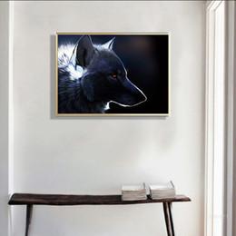 wilde plakate Rabatt Moderne Kunst Wild Wolf Tier-Leinwand-Kunst-Malereien Drucke Poster Minimalist Natur Wandbild für Wohnzimmerdekoration