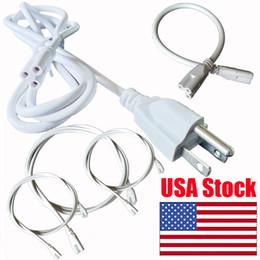 cavi di alimentazione standard Sconti 3ft 5ft 6ft Cavi di alimentazione con interruttore US Plug Connettore standard per T5 T8 integrato Luci a tubo