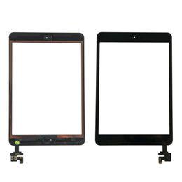 Cámara ic chip online-Pantalla táctil original de OEM para iPad mini 1 mini 2 digitalizador Glasss Panel + IC Chip + Botón de inicio + Adhesivo + Soporte de cámara DHL gratuito