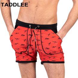 fb4e9861f76bd Taddlee Brand Mens Swimwear Bikini Swimsuits Swim Trunks Briefs Shorts Sexy  Bathing Suits Long Board Shorts Square Boxer Cut New