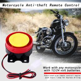 12v alarmes Promotion Système de contrôle à distance de moteur d'alarme de système d'alarme de sécurité de moto de 12V démarrant universel
