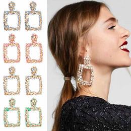 S925 Orecchini pendenti in argento con coreano Orecchini con diamanti moda coreana Geometria femminile Cerchio Cerchi Orecchini Gioielli Regali Accessori da perline di plastica 7mm fornitori