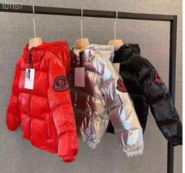 große jungs daunenjacke Rabatt bester Verschiffen neuer Markenjungenwinter der Ankunft M unten Jacke für Mädchen parkas unten warme helle große Kindmanteljungen-Mädchenkleidung 3T-11T
