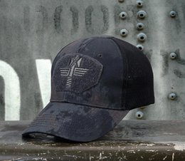 Gorras de béisbol tácticas online-2019 Nuevas gorras tácticas sombreros de camuflaje táctico gorra de béisbol sombrero de malla al aire libre caza accesorios de equipo de combate