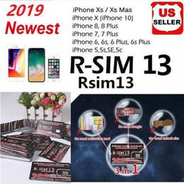 2019 desbloqueio de chip Hot Sale RSIM13 cartão de desbloqueio para iPhone ios12 Max XR R sim 13 R-SIM 13 Smart Activation desbloqueio de cartão SIM iccid desbloqueio iPhone 6/7/8 IOS12