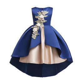 Chegada nova Elegante Vestido Meninas Sem Mangas Appliqued Sereia Festa de Casamento Traje Meninas Vestido de Baile Vestido de Crianças Roupas de