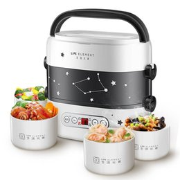 2020 smart-lunch-box Smart Electric Lunch Box Mini Rice Cooker Double Layer Appointment Timing Portable Automatic Heating Ceramic Liner Food Warmer T200429 günstig smart-lunch-box