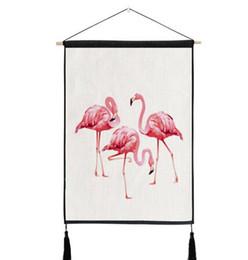 Immagini di nozze rosa online-Pink Flamingo ananas Arazzo appeso a parete in cotone biancheria da letto divano sfondo immagine Home Decor matrimonio gallina tema decorazione del partito