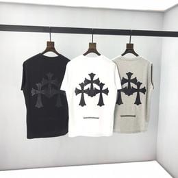 migliori marche della maglietta di moda Sconti T-shirt dei migliori uomini di vendita nuovi fuochi d'artificio stella coppie di marca di marea di moda a maniche corte in cotone T-shirt hip-hop che basa la camicia -669