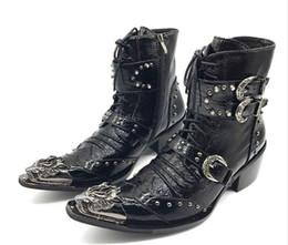 43f49d6c41ac Rabatt Schnalle Stiefel Punk-stil | 2019 Schnalle Stiefel Punk-stil ...