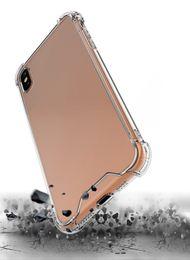 Iphone pour pas cher en Ligne-Pas cher résistance aux chutes de prix Effacer TPU Couverture de téléphone Air Sac Transparent Étui souple pour iPhone 7 8 PLUS XR X MAX