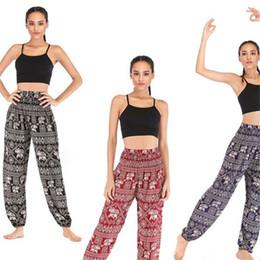 2019 pantaloni poplini Pantaloni di yoga modello elefante popeline donna pantaloni di lanterna donne fatti a mano multi colori pantaloni a vita alta vendita calda 28skb L1 pantaloni poplini economici