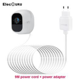 2019 sicherheitskamera netzteil 9M Ladekabel Ladegerät für Arlo Pro 2 / Pro / Light / Arlo Go Überwachungskamera Ladegerät 9M Stromkabel + Adapter EU / UK / US Stecker günstig sicherheitskamera netzteil