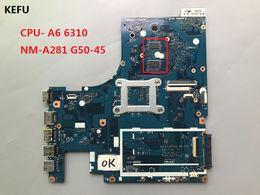 x58 motherboards Rabatt KEFU Laptop Motherboard für Lenovo G50-45 PC Mainboard A6-6310 CPU ACLU5 ACLU6 NM-A281 15 Zoll Vollversion