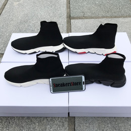 deporte de moda Rebajas Con la caja 2019 New Speed ​​Runner Fashion Shoes Sock Top Quality Triple Negro Oreo Red Flat Trainer Hombres Mujeres Casual Shoes Sport US13