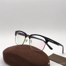 2019 occhiali lenses hd le nuove donne di modo progettano i vetri ottici del progettista 5585 occhio mezzo dell'obiettivo di HD della struttura dell'occhio di gatto stile di progettazione di manifestazione di estate con la scatola sconti occhiali lenses hd