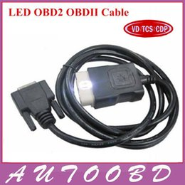 Cdp obd online-Mejor calidad CDP LED OBD2 Cable para VD TCS CDP PRO PLUS / Nuevo vci OBD 2 OBDII SCANNER CABLE Accesorios