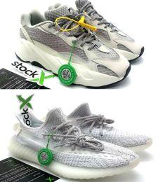 newest 2d7d3 24898 Senza scatola 2019 Big size US13 statico 700 v2 zebra sneakers Ah2203  Giallo semi congelato tinta blu Uomo Donna Running Shoes scarpe da corsa  grandi ...