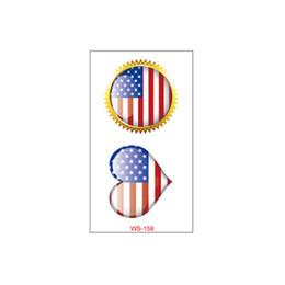 Étanche autocollant de tatouage jour de l'indépendance de l'Amérique environnement protéger l'environnement autocollant d'encre de tatouage multi couleur beauté autocollant de tatouage temporaire ? partir de fabricateur
