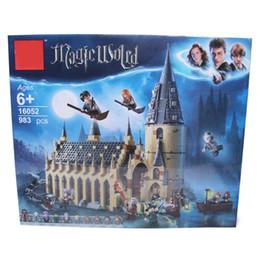 pluma de incienso Rebajas Harry Magic World Potter's Hogwarts Great Hall Kit de construcción Bloques Juguetes para niños Compatible con Legoings