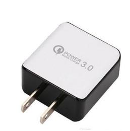 Argentina QC 3.0 Cargador rápido de pared USB Carga rápida 5V 3A 9V 2A Adaptador de corriente de viaje Carga rápida EE. UU. Enchufe de la UE para iPhone 7 8 X Samsung Huawei Phone Suministro