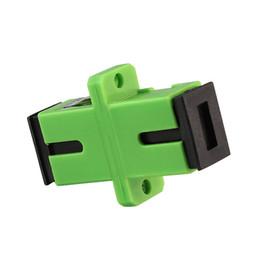 См пластмассы онлайн-200 шт./лот SC APC адаптер разъем Симплексный SM одномодовый пластиковый волоконно-оптический адаптер