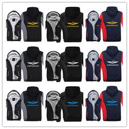 2019 hoodie russo Inverno com capuz Aeroflot Russian Airline imprimir Homens mulheres Quente Engrosse Hoodies roupas de outono camisolas Zipper jaqueta de lã com capuz streetwear hoodie russo barato