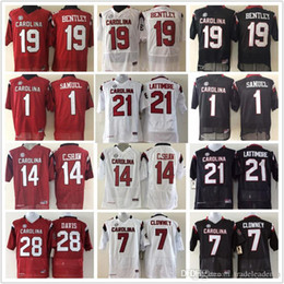 clowney jerseys Coupons - Mens Kids 1 Deebo Samuel 19 Jake Bentley 7 Jadeveon Clowney 14 C.SHAW Marcus Lattimore South Carolina Gamecock College NCAA Football Jerseys