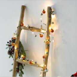 lanternas decorativas do natal Desconto LED corda leve corda leve Natal sino de Natal lâmpada decorativa desejo garrafa lanterna Estrela Festival luz de Natal bola